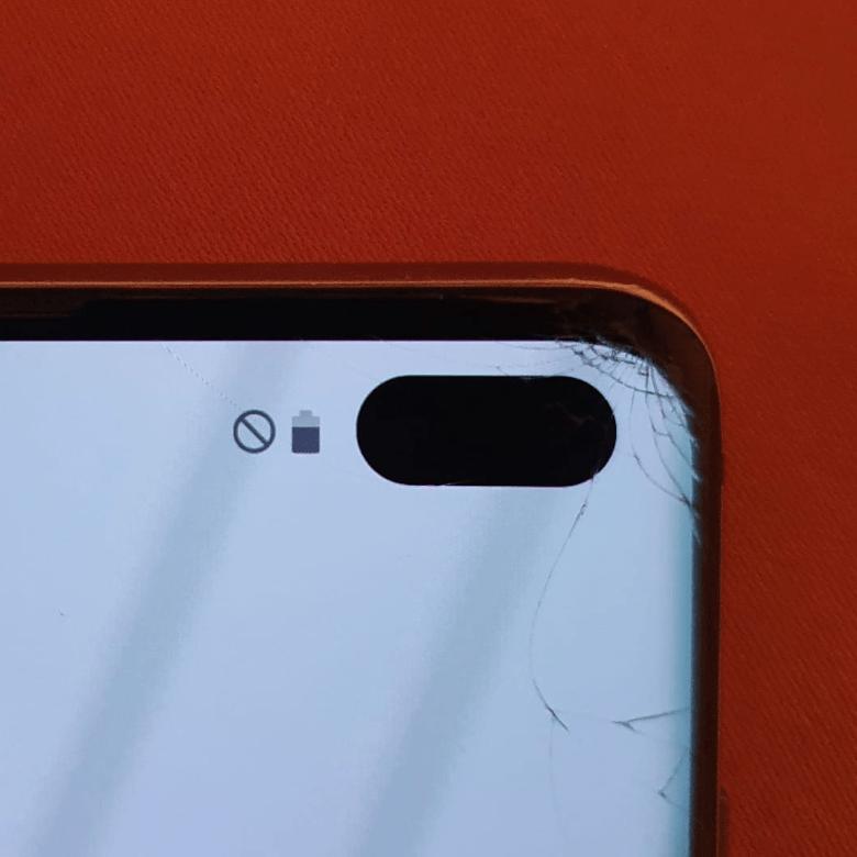 Samsung S10 Plus Glas Bruch